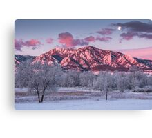 The Foothills At Moonset Canvas Print