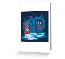 Big Bad Wolf Greeting Card
