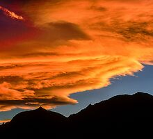As Sunset Rolls Over the Flatirons by Greg Summers