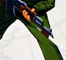 North Korean Propaganda - Bayonet Sticker
