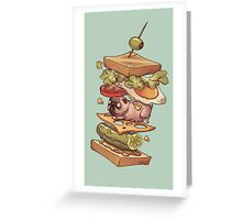 PUG_SANDWICH Greeting Card
