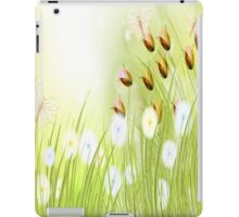 Yellow and Blue Flowers, Butterflies and Roses iPad Case iPad Case/Skin