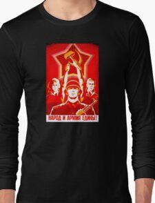 USSR Propaganda - Hammer and Sickle Long Sleeve T-Shirt