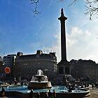 Nelson's Column, Trafalgar Square, London by NicholaNR