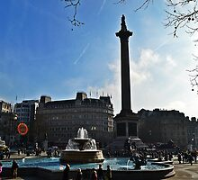 Nelson's Column, Trafalgar Square, London by NicholaNR