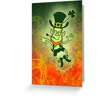 Irish Leprechaun Clapping Feet Greeting Card