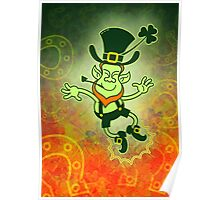 Irish Leprechaun Clapping Feet Poster