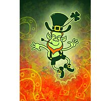 Irish Leprechaun Clapping Feet Photographic Print