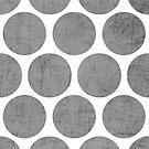 gray polka dots by beverlylefevre
