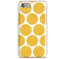 yellow polka dots iPhone Case/Skin