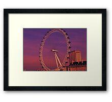 London Eye, London, UK Framed Print
