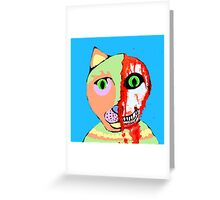 Skull Cat Greeting Card