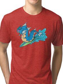 Gyarados Used Surf  Tri-blend T-Shirt