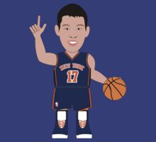 NBAToon of Jeremy Lin, player of New York Knicks (retro) by D4RK0