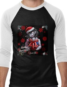Creepypasta- Merry Chirtsmas from Jeff! Men's Baseball ¾ T-Shirt