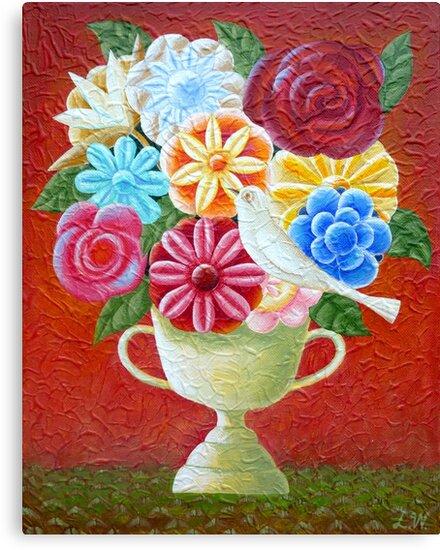 A Vase Of Flowers by Lana Wynne
