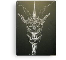Skull & Sword Canvas Print