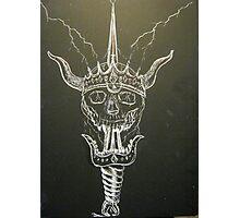 Skull & Sword Photographic Print
