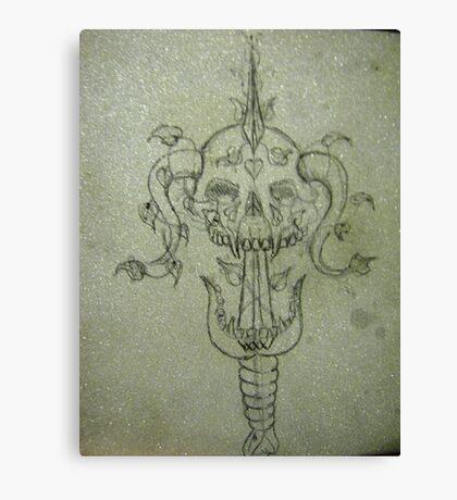 Sverd og Skull Canvas Print