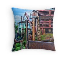 Trusty Rusty Tractor Throw Pillow