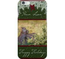 Cheetah Mother and Son for the Holidays iPhone Case/Skin