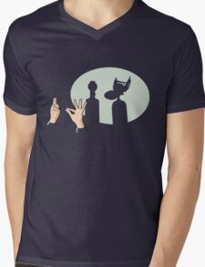 Mystery Silhouette Theater 3000 Mens V-Neck T-Shirt