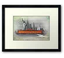 new york icons Framed Print