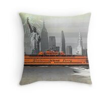 new york icons Throw Pillow