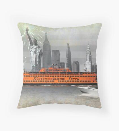new york icons Throw Pillow