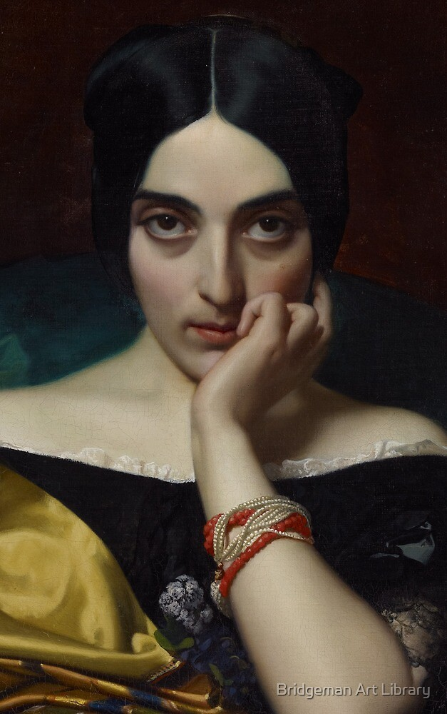 Portrait of Clémentine (Mrs. Alphonse) Karr, 1845  by Bridgeman Art Library