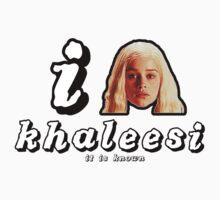 khaleesi white letters tee by natefiala