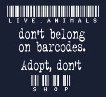 Live Animals Don't Belong on Barcodes: white Kids Clothes