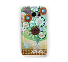 Green Flowers Samsung Galaxy Case/Skin