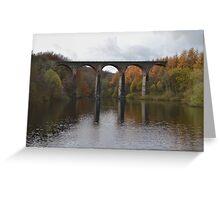 Armsgrove Viaduct On Wayoh Reservoir. Greeting Card