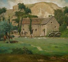 The Farm House, c.1867-69 by Bridgeman Art Library