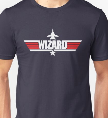 Custom Top Gun Style - Wizard Unisex T-Shirt