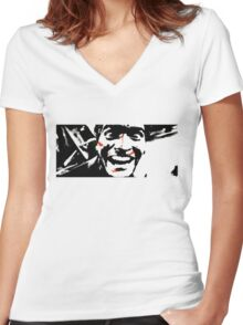 The Madness Of The Evil Dead Women's Fitted V-Neck T-Shirt