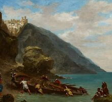 View of Tangier from the Seashore, 1856-8 by Bridgeman Art Library