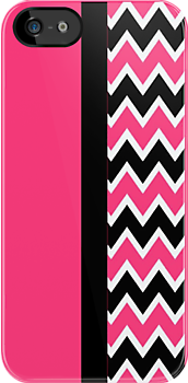 Hot Pink Chevron iPhone iPod Case by wlartdesigns