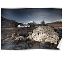 Blackrock Cottage, Glencoe Poster