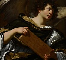 Angels with Attributes of the Passion, the Superscription from the Cross, c.1624 by Bridgeman Art Library