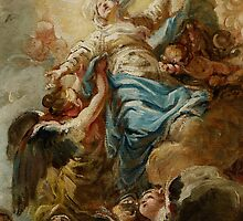 Study for the Assumption of the Virgin, c.1760 by Bridgeman Art Library