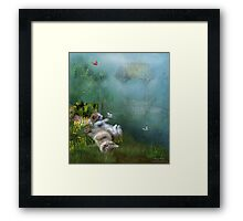 Kitty Wishes Framed Print