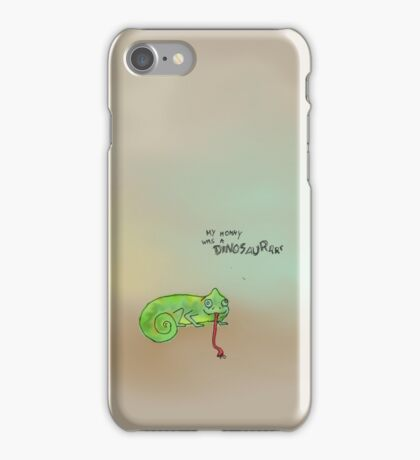 Evolution of the dorky chameleon iPhone Case/Skin