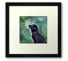 Young Lab & Butttys Framed Print