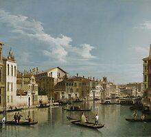 Grand Canal from Palazzo Flangini to Palazzo Bembo, c.1740 by Bridgeman Art Library