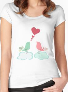 Love bird couple  Women's Fitted Scoop T-Shirt