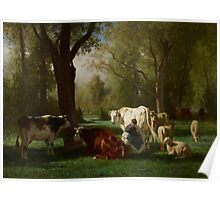 Landscape with Cattle and Sheep, 1852-8 Poster