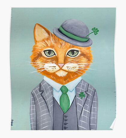 Tiarnan the Tabby Cat Poster