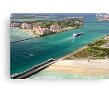 Entering Miami Harbour Canvas Print